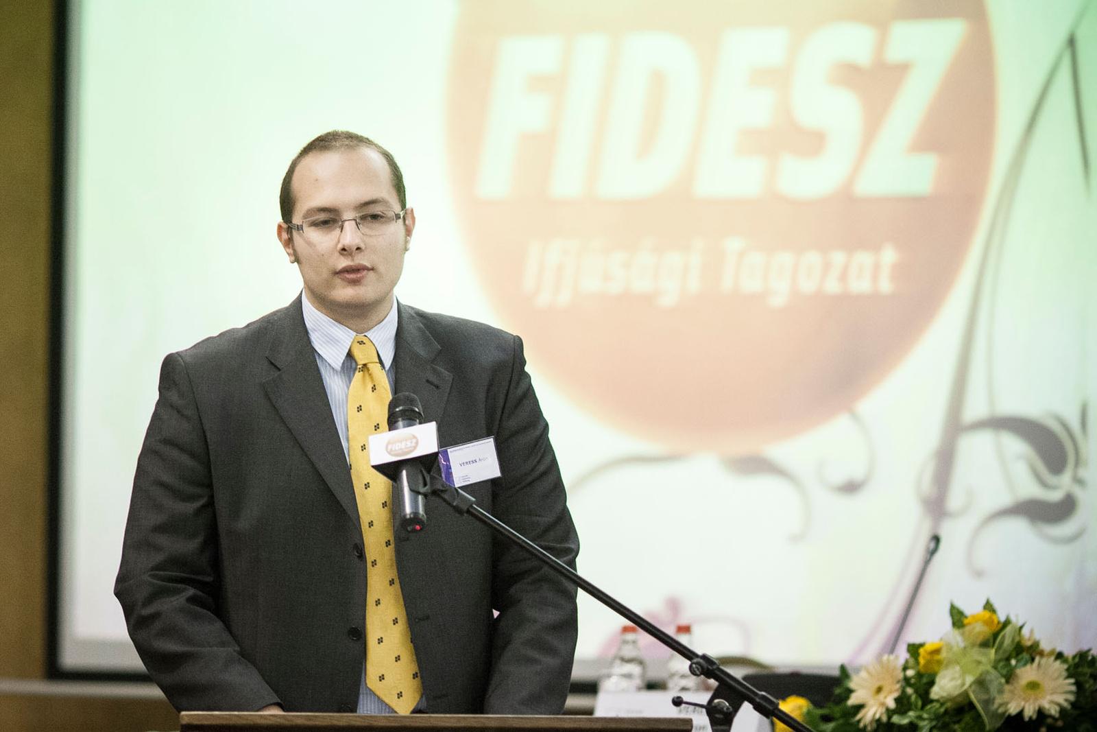 Veress Áron, a Fidesz Ifjúsági Tagozatának elnöke