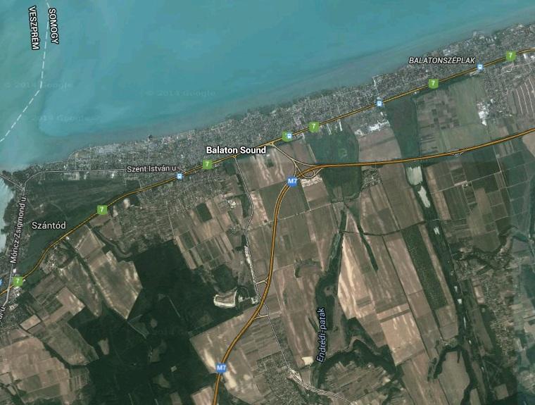 balaton műholdas térkép A Google átnevezte Zamárdit Balaton Soundra   444 balaton műholdas térkép