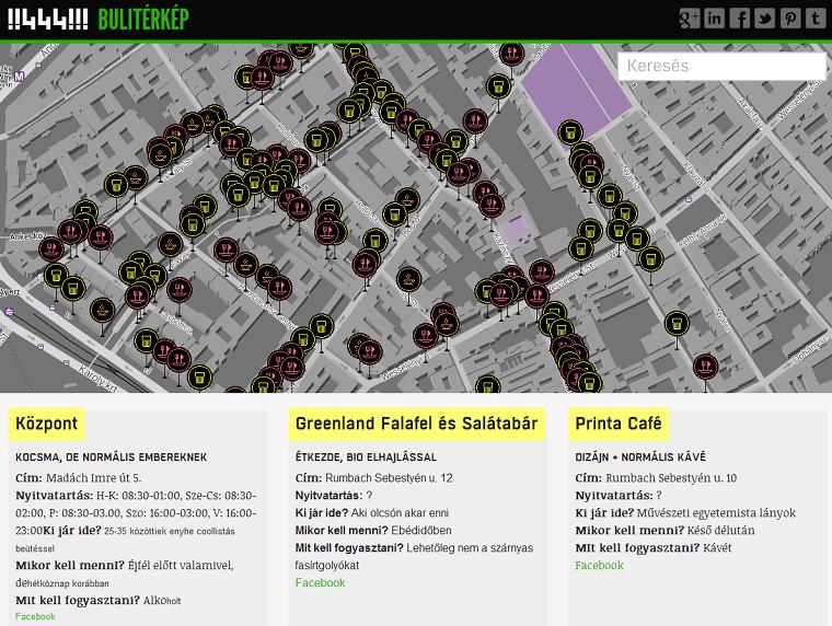 buli térkép budapest A 444 bulinegyed térképe   444 buli térkép budapest