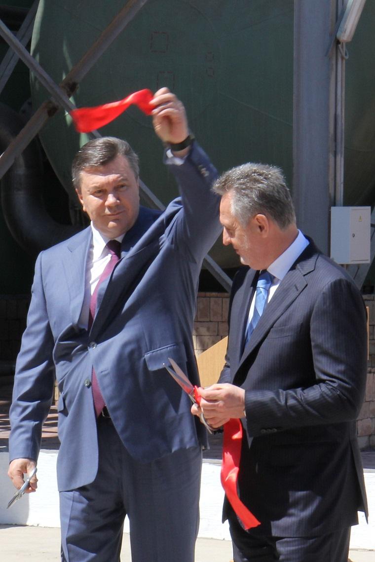 Group DF holding owner Dmytro Firtash and Ukrainian President Viktor Yanukovych