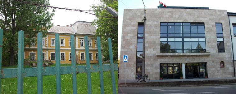 A képen a görögkatolikusok nyíregyházi iskolái - a belvárosi elit- és a telepi iskola látható. Fotó: RSK