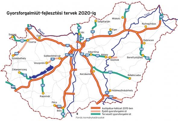magyarország térkép autópályákkal Értelmetlen autópályákra verünk el 650 milliárd forintot   444 magyarország térkép autópályákkal