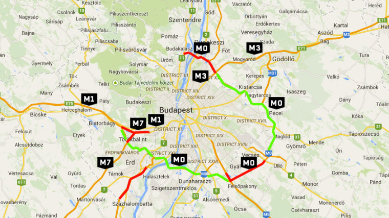 budapest körgyűrű térkép Budapesten és környékén drágább, vidéken olcsóbb lesz autópályázni  budapest körgyűrű térkép