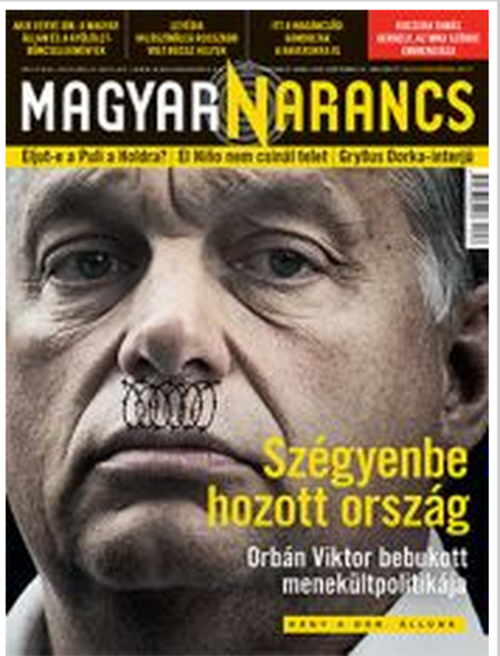 Hitler-bajszos Orbánnal a címlapján jelent meg a mai Magyar Narancs ... 6329f89ad3