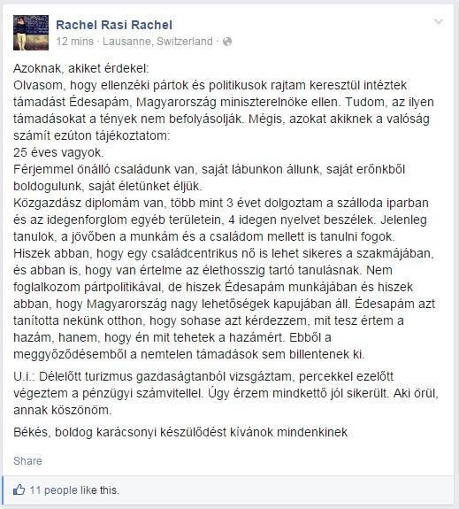 orbán ráhel facebook