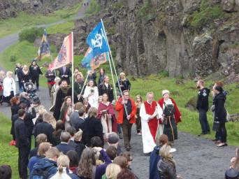 Pogány szertartás Izlandon (via Wikipedia)