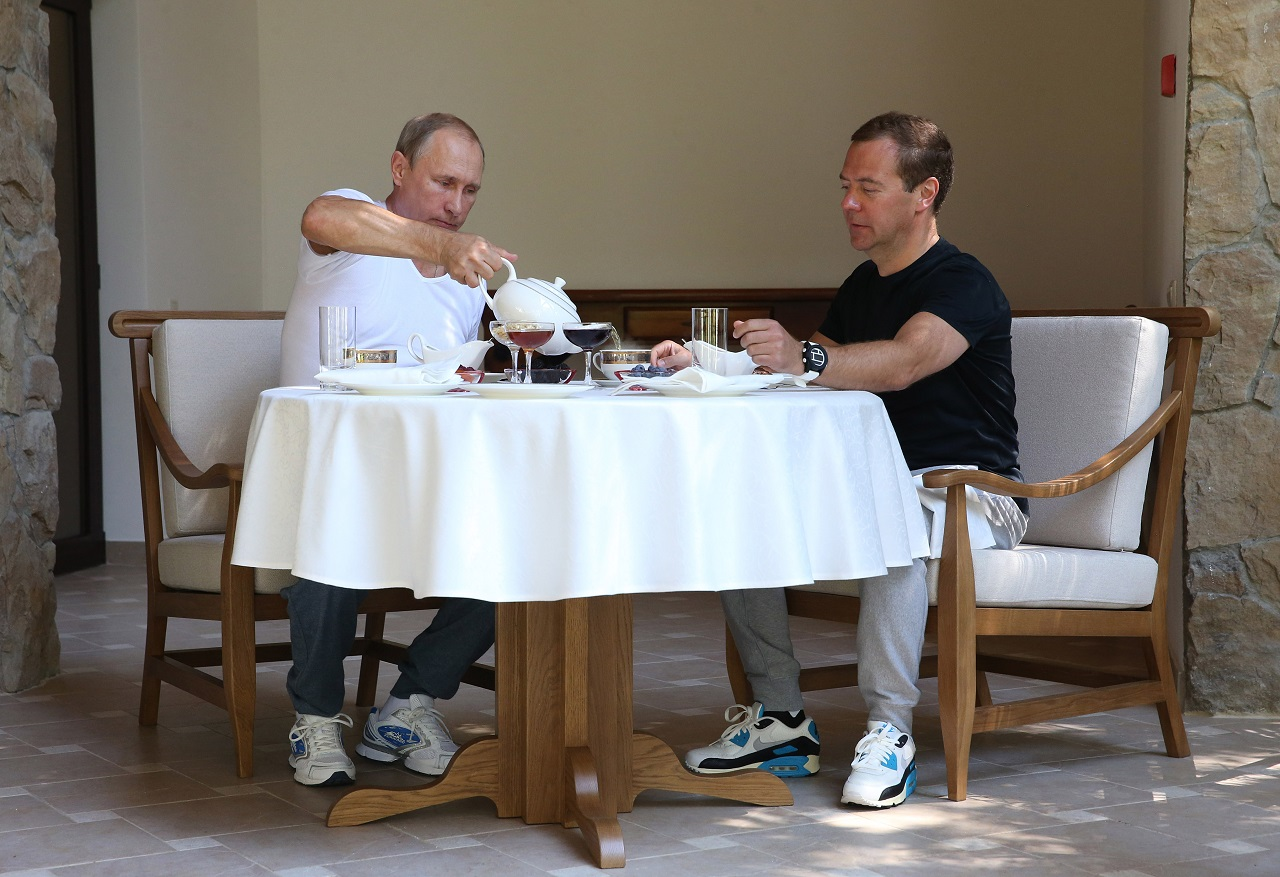 Meeting of President Vladimir Putin and Prime Minister Dmitry Medvedev in Sochi