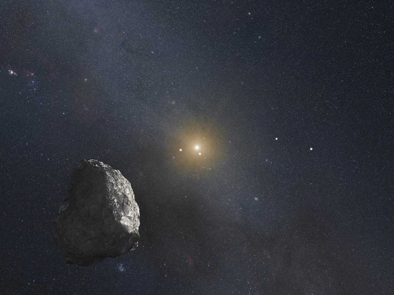 Egy Kuiper-övbeli objektumról készült fantáziarajz. Forrás: NASA