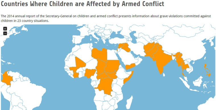 child soliders map
